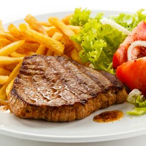 Beef Steak (Served with chips & Salad)